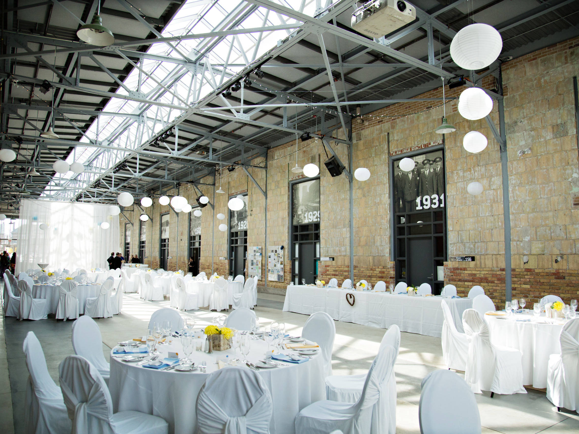 Reception set up, Covered Street Barn, Artscape Wychwood Barns